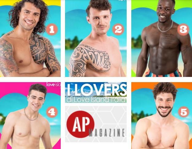 Le foto dei 5 concorrenti uomini nel cast di Love Island 2021 Italia