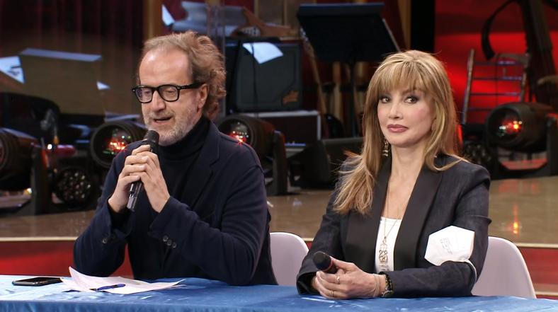 Il direttore di Rai Uno Stefano Coletta e Milly Carlucci alla conferenza di Ballando con le stelle 2021